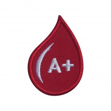 Emblema, Patch  Grupo Sanguíneo A Positivo (A rh+) em forma de gota