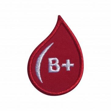Emblema, Patch  Grupo Sanguíneo B Positivo (B rh+) em forma de gota