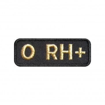 Emblema, Patch  Grupo Sanguíneo 0 Positivo (0 rh+) em forma rectangular
