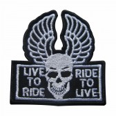 Emblema, Patch  Live to Ride Ride to live