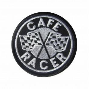 Emblema, patch Café Racer com bandeiras de xadrez