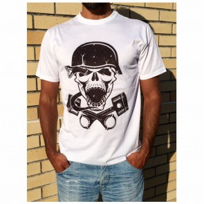 T-Shirt Unisexo B&P  Skulls and Pistons de Adulto de manga curta