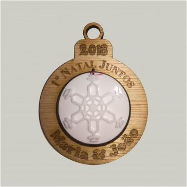 Bola comemorativa do 1º Natal Juntos personalizada com nome