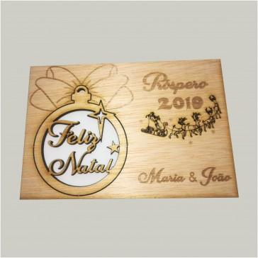 Cartão Feliz Natal Personalizado