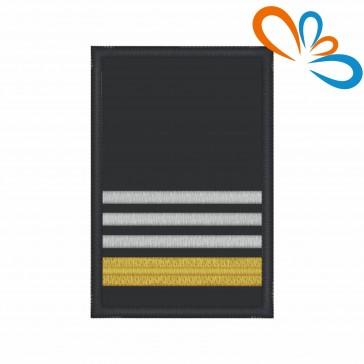 Divisa de Oficial Principal com Velcro – Bombeiros