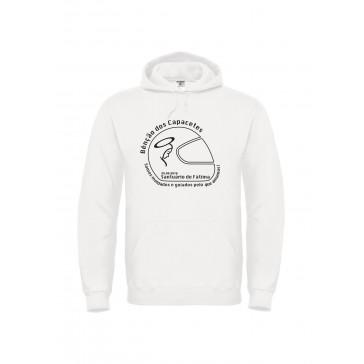 Sweatshirt B&C Hooded Unisexo Branco Tamanho S