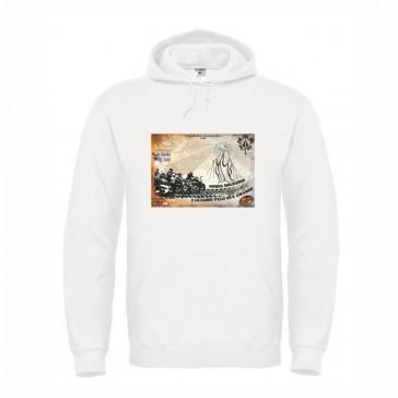 Sweatshirt B&C Hooded Unisexo Branco Tamanho M