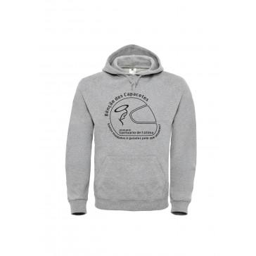 Sweatshirt B&C Hooded Unisexo Cinzento Claro Tamanho S