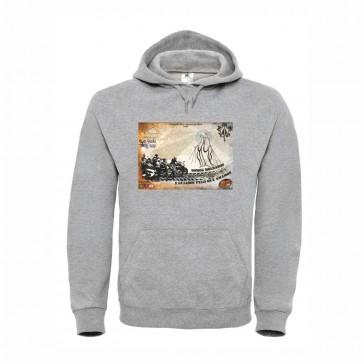 Sweatshirt B&C Hooded Unisexo Cinzento Claro Tamanho L