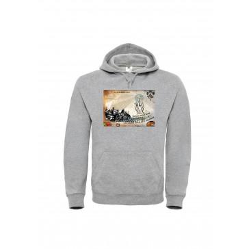 Sweatshirt B&C ID003 Unisexo Cinzento ClaroTamanho S
