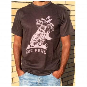T-Shirt Unisexo B&P  Ride Free de Adulto de manga curta
