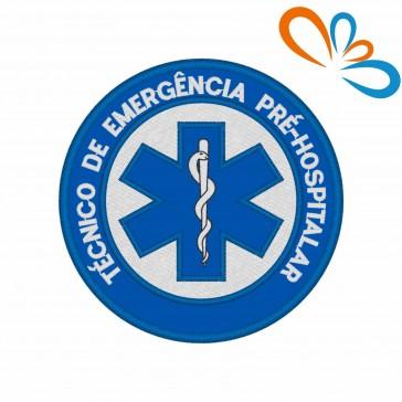 Emblema, Patch Estrela da vida Redonda – Técnico de Emergencia Pré-Hospitalar