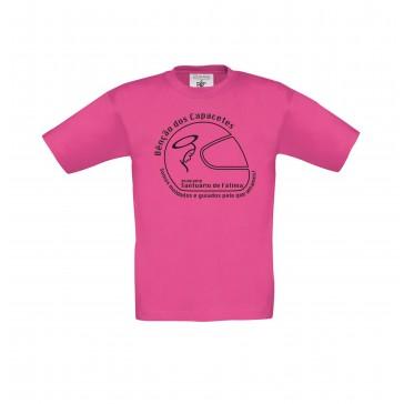 T-shirt B&C Exact 150 Criança Fuchsia 9/11 Anos