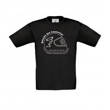 T-shirt B&C Exact 150 Criança Preto  5/6 Anos