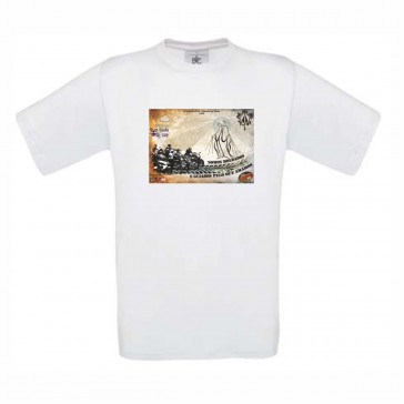 T-Shirt  B&C Exact 190 Unisexo de manga curta, Branco Tamanho M