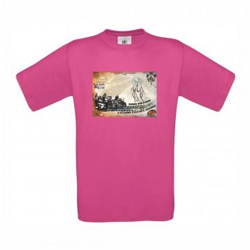 T-Shirt  B&C Exact 150 Unisexo de manga curta, Fuchsia Tamanho M