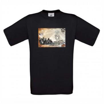 T-Shirt  B&C Exact 190 Unisexo de manga curta, Preto Tamanho M