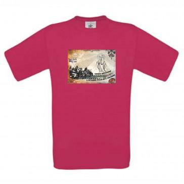 T-Shirt  B&C Exact 190 Unisexo de manga curta, Sorbet Tamanho XXL