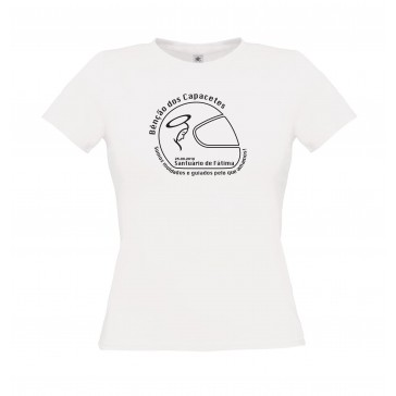 T-Shirt  B&C Exact 150 Senhora de manga curta, Branco Tamanho XL