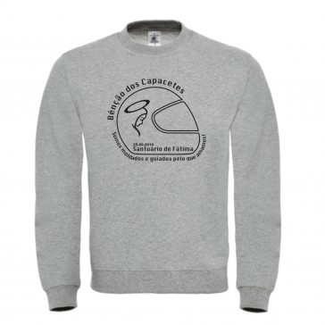 Sweatshirt B&C ID002 Unisexo Cinzento ClaroTamanho S
