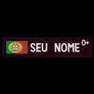 Patch com Bandeira de Portugal, Nome e Grupo Sanguíneo Personalizado