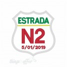 Patch Estrada N2 personalizado com data