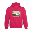 Sweatshirt B&C Hooded Unisexo Sorbet Tamanho L