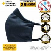 Mascara de protecção reutilizavel de 3 camadas e 25 lavagens, Azul marinho