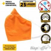 Mascara de Criança de protecção reutilizavel de 3 camadas e 25 lavagens, Laranja