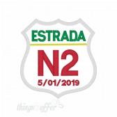 Patch Estrada N2 personalizado com data