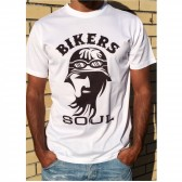 T-Shirt Unisexo B&P bikers Soul de Adulto de manga curta