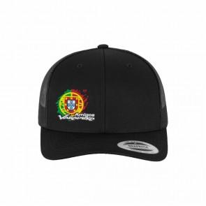 Boné Yupoong Retro Trucker Preto  - Amigos Varadero