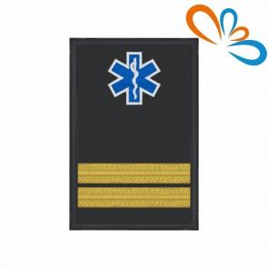 Divisa com Estrela da Vida de Adjunto Comando com Velcro – Bombeiros