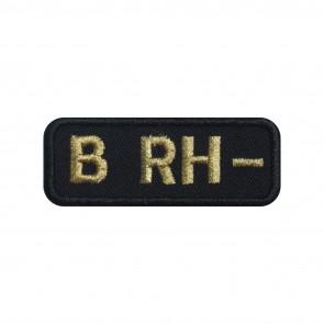 Emblema, Patch  Grupo Sanguíneo B Negativo (B rh-) em forma rectangular