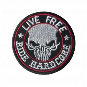 Emblema, Patch Live Free, Ride Hard Core