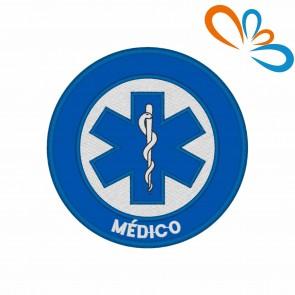 Emblema, Patch Estrela da vida Redonda – Médico