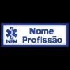 Bordado de Nome Personalizado com velcro de INEM