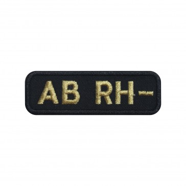 Embroidered patch Blood Grup AB- rectangular shape