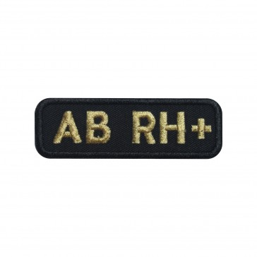 Embroidered patch Blood Grup AB+ rectangular shape