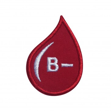 Embroidered patch Blood Grup B- drop form