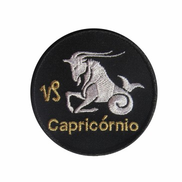Zodiac Capricorn Embroidered Patch