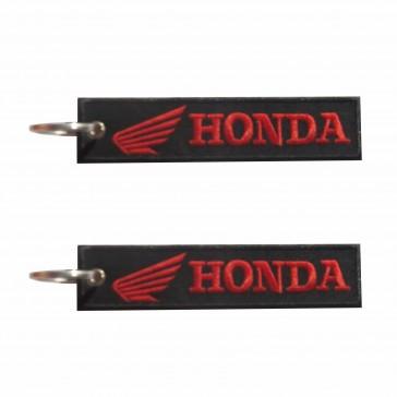 Honda Embroidered Horizontal Keyring
