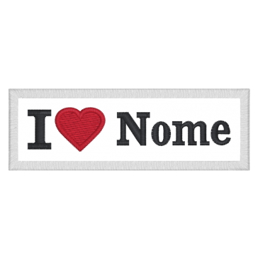 Custom I Love Name Embroidery Patch