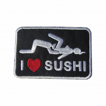 Embroidered patch I Love Suchi