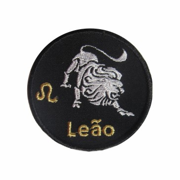 Zodiac Leo Embroidered Patch