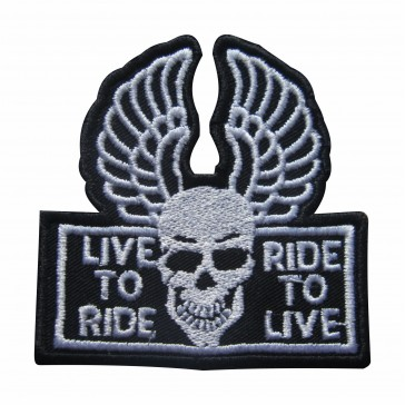 Embroidered patch Live to Ride Ride to live