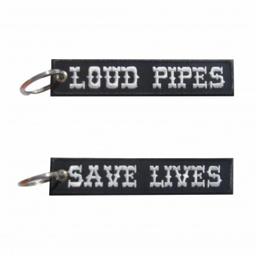 Embroidered Keyring Loud Pipes Save Lives