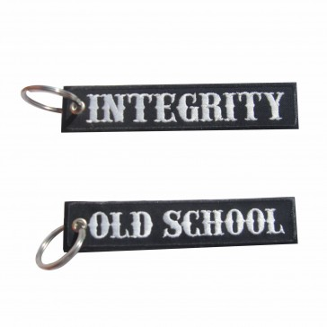 Old School Embroidered Keyring – Integrity
