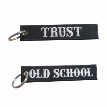 Old School Embroidered Keyring – Trust