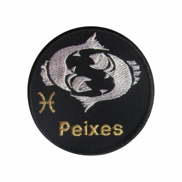 Zodiac Pisces  Embroidered Patch